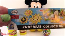 DISNEY MICKEY MOUSE SURPRISE EGGS OPENING+UNBOXING!MICKEY MOUSE PLAY DOH EGGS WITH FUN KIDS TOYS