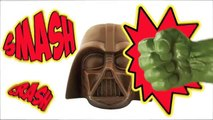 #Hulk Smashing Star Wars Darth Vader Chocolate Surprise With Minions Super Heroes #Animation