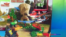 Disney Planes Fire and Rescue Wildfire Rescue Playset Dusty Crophopper Airplane toys for boys d