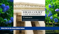 READ book High Court Case Summaries on Contracts, Keyed to Farnsworth Publisher s Editorial Staff