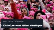 Washington : une marée humaine rose contre Donald Trump