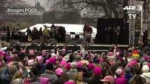 USA: Michael Moore et Ashley Judd à la «Marche des Femmes»