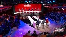 François Hollande au théâtre pendant le deuxième débat de la primaire de la gauche-ldsCNS5v0A0