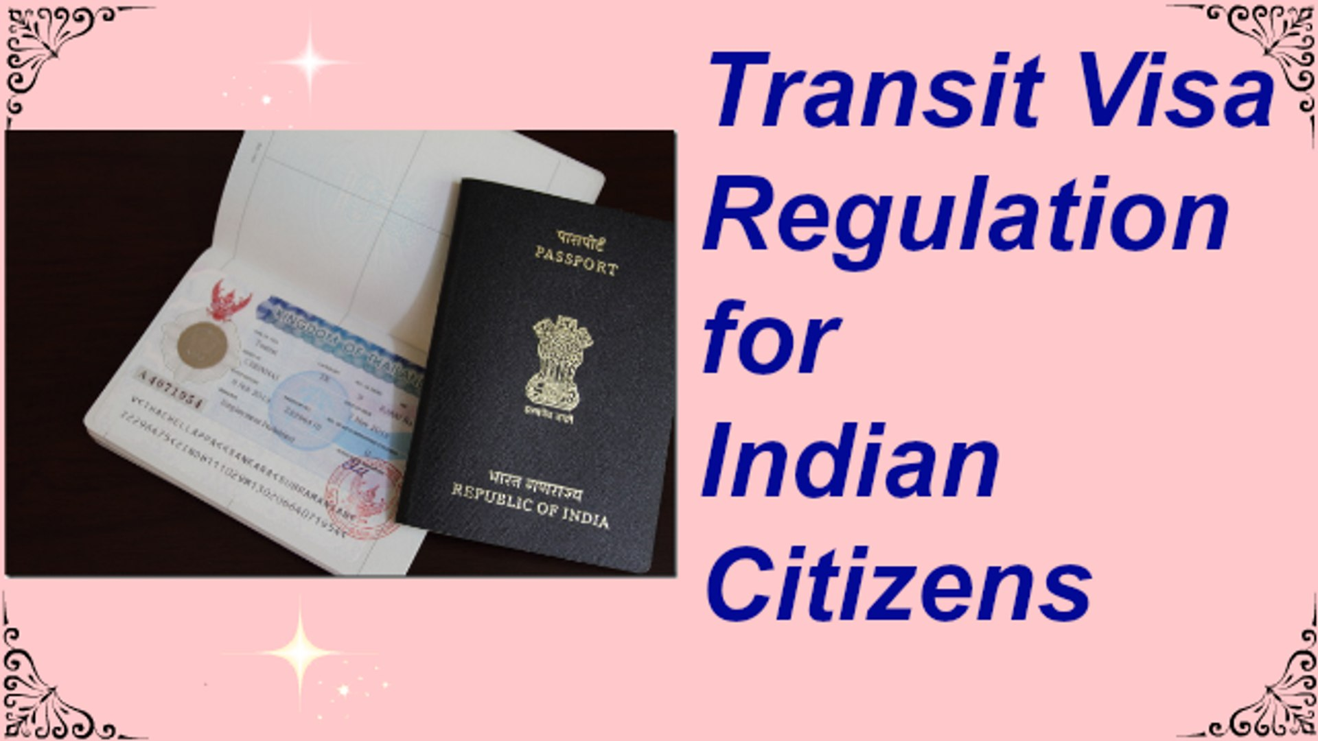 Transit Visa Regulations for Indian Citizens