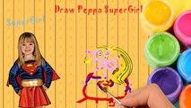 Peppa Pig English Episodes 2 Superman New Episodes Supergirl Cartoon Animation Speed Draw