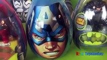 Easter Eggs Surprise Opening 2016 Marvel SuperHeroes Toys Batman vs Superman Hulk Iron Man Advengers