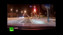 Dashcam Accident - Fatal high-speed street race crash on snowy Siberian road-hfyjayPZhSs