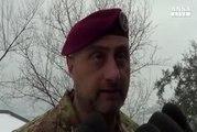 Tre squadre delle forze armate a Rigopiano