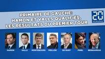 Primaire de gauche: Hamon et Valls qualifiés, les résultats du premier tour