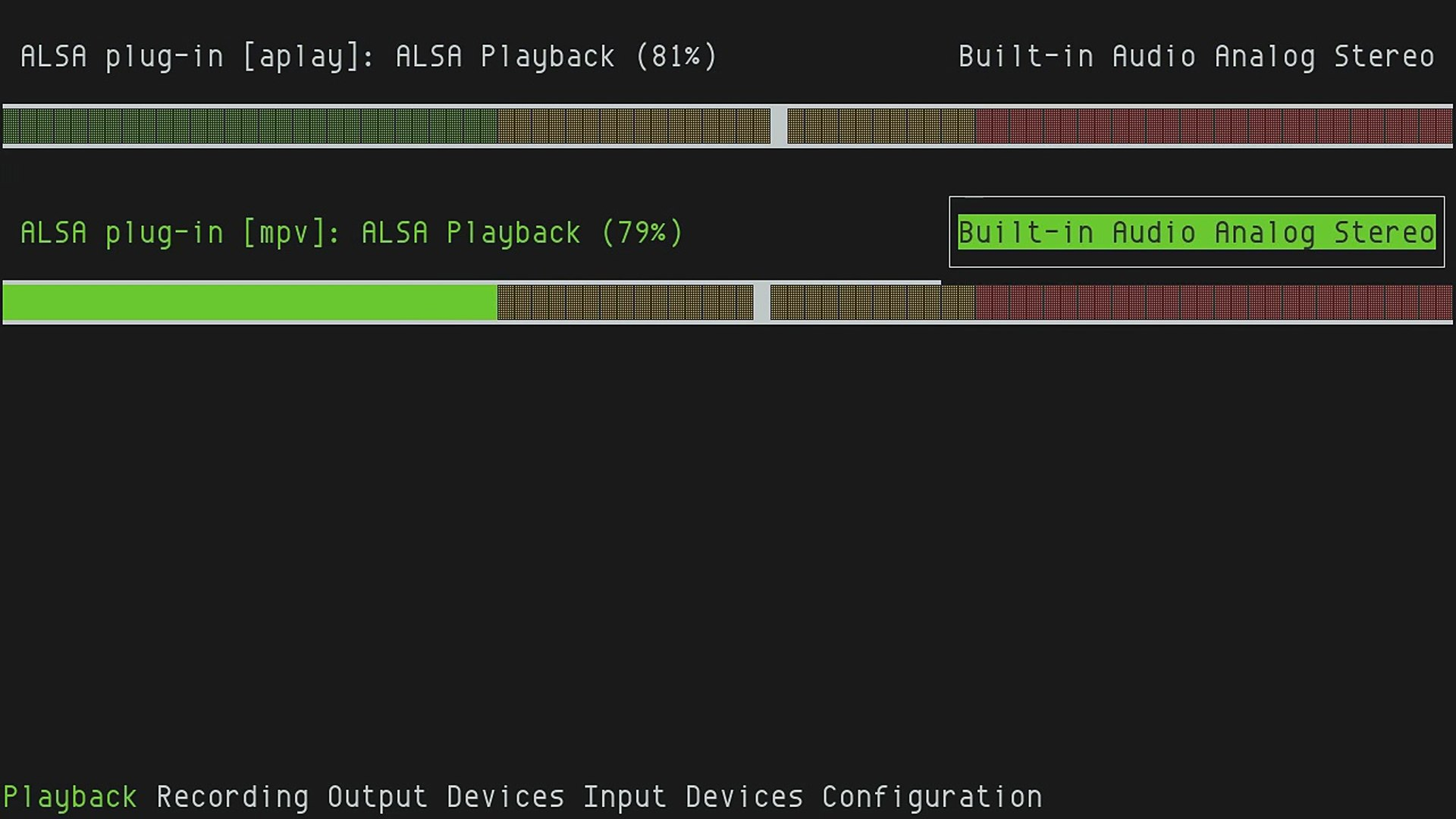ncpamixer, ncurses PulseAudio Mixer-v54QLfc1dCg