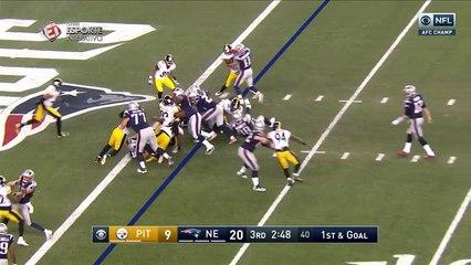 LeGarrette Blount mergulha para marcar o terceiro touchdown do Patriots no jogo