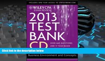 Read Book Wiley CPA Exam Review 2013 Test Bank CD, Business Environment and Concepts O. Ray