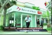 'Cajoneros al ataque': continúan asaltos a bancos