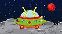 Видео для детей: НЛО автомобиль | Мультфильмы для детей | ABC песня | колеса на автобусе | детей