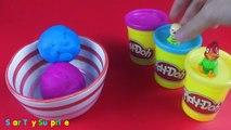 Play Doh Ice Cream Surprise Eggs opening