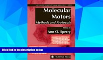 Audiobook  Molecular Motors: Methods and Protocols (Methods in Molecular Biology)  For Kindle