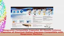 Nespresso Compatible Capsules 60 Meseta Intenso Capsules of Gourmet Italian Espresso d3acee19