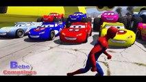 Comptines Bébé - avions cargo, monstres voitures colorées & Spiderman McQueen. Dessin animé francais