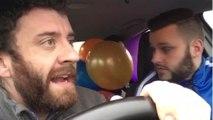Ballons d'hélium dans une voiture (Vine)