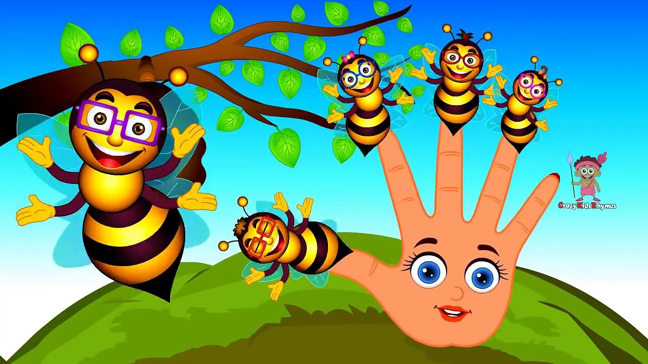 Honey Bee Finger Family | Daddy Finger Family Songs | Honey Bee Cartoon Animation Rhymes for Kids