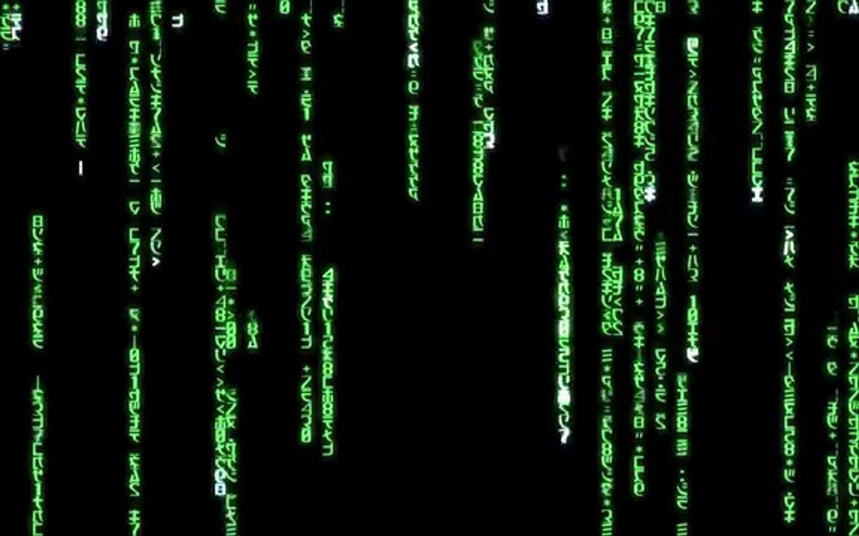 Matrix Code Green 1440x900 For Dreamscene 360p