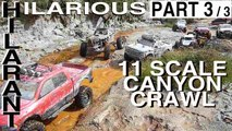 Canyon Trail Hilarant 11 RC Scale 4x4 Crawlers dans Crevasses Collines de Sable Abbaretz : Part 3