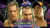 Randy Orton vs Triple H vs John Cena, WWE Championship (Wrestlemania XXIV)