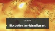 Une animation de la NASA montre l'ampleur du réchauffement climatique