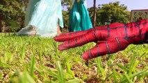 Spiderman Loses His HAND! Crazy Hand comes ALIVE w Frozen Elsa, Bad Elsa, Maleficent, Hulk & Candy