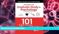 FREE PDF Preparing for Graduate Study in Psychology 101 Questions