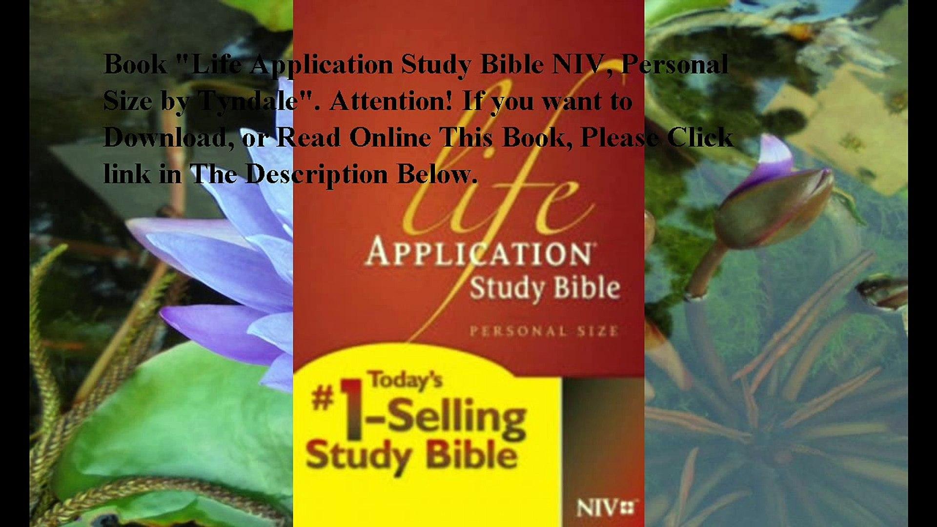 Download Life Application Study Bible NIV, Personal Size ebook PDF