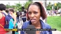 Reportage de ma nièce Alice pour 1ère Guyane Soir - Nouvel an chinois, la danse des dragons à Saint-Laurent