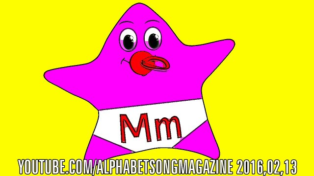 Alphabet song Nursery rhymes with letter M Twinkle Twinkle Little Star Baby or Toddler Girl ABCs Fun