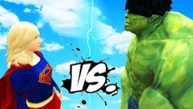 THE INCREDIBLE HULK VS SUPERGIRL - EPIC SUPERHEROES BATTLE