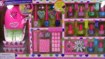 Pop Beauty Magical Manicure Salon! Style NAILS with Nail Polish Stencils Glitter! Nail DRYER!