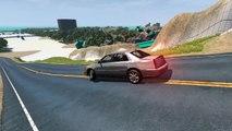 BeamNG.drive - Pothole Speeding Supercars Cars and Trucks Crashes