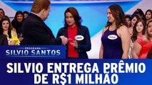 Silvio Santos entrega prêmio de R$ 1 milhão | Programa Silvio Santos (23/04/17)