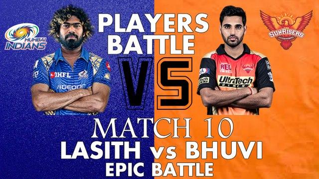 IPL 2017 Player Battle (SRH vs MI) Bhuvneshwar Kumar vs Lasith Malinga | Must Watch