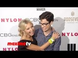 Audrey Whitby NYLON & BCBGeneration Young Hollywood Party Red Carpet