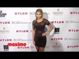 Justin Bieber's Chantel Jeffries NYLON & BCBGeneration Young Hollywood Party Red Carpet