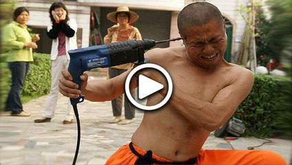 Crazy Chinese Monk Drills His Head