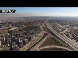 Evacuation of east Aleppo : 20 buses to transport 5K rebels with families (drone footage)