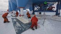 Estação de pesquisa Halley VI esquia 20 quilômetros para a segurança