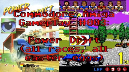 Commodore Amiga Gameplay #003: Power Drift (all races, all easter eggs)