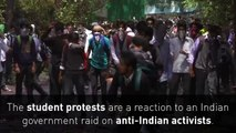 Protesters clash with Indian authorities in Kashmir