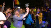 LGBTQ protesters organise dance party in front of Mike Pence's home