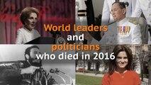 Nancy Reagan, Jo Cox, Fidel Castro: Politicians and world leaders who died in 2016