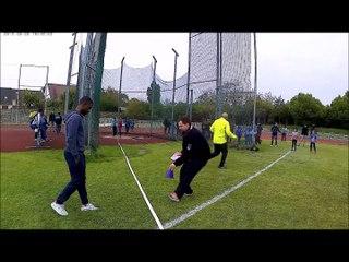 Animation Athlétisme Villejuif le 22/04/2017 Lancer de Marteau Poussines Suite