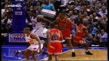 1993 NBA playoffs ecf game 5 Chicago Bulls-New York Knicks part 1/2