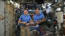 Des astronautes de la Station spatiale parlent avec Donald Trump